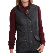 Barbour Cavalry Quilted Vest - Fleece Lined (For Women) in Navy/Plum - Closeouts