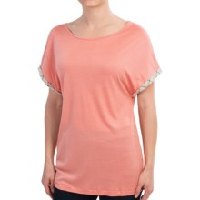 Barbour Ceall Midlayer Shirt - Short Sleeve (For Women) in Camelia - Closeouts