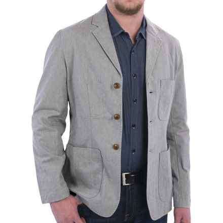 Barbour Chatsworth Casual Blazer - Stretch Cotton (For Men) in Grey - Closeouts
