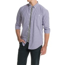 Barbour Chatsworth Shirt - Button-Down Collar, Long Sleeve (For Men) in Purple Check - Closeouts