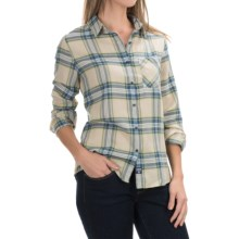 Barbour Check Plaid Shirt - Long Sleeve (For Women) in Blue/Green Check, Brae - Closeouts