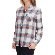 Barbour Check Plaid Shirt - Long Sleeve (For Women) in Navy Check, Brae - Closeouts