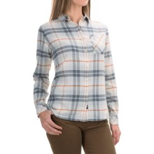 Barbour Check Plaid Shirt - Long Sleeve (For Women) in Silver Ice Check, Tidewater - Closeouts