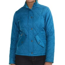 Barbour Chelsea Quilted Jacket (For Women) in Ocean/Navy - Closeouts