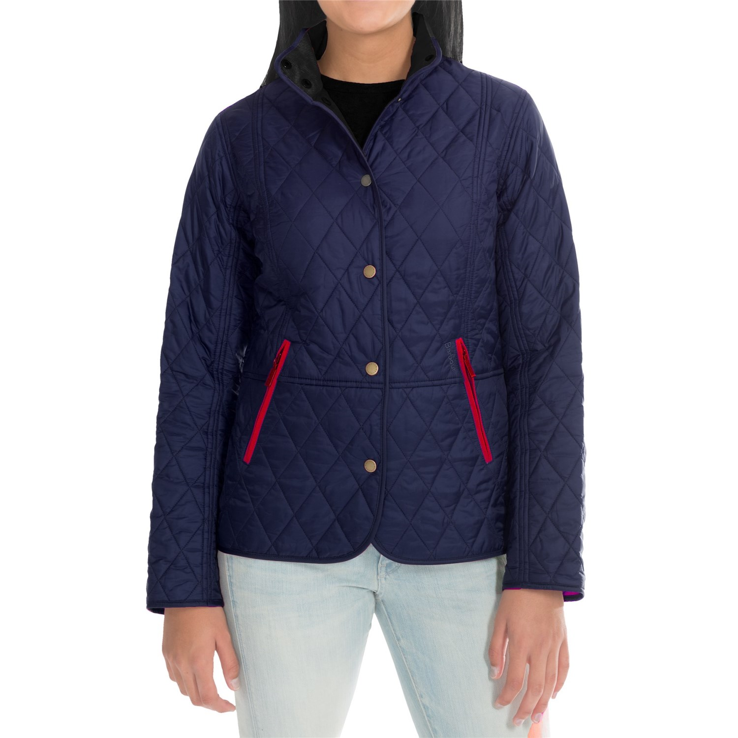 Barbour Chestnut Diamond Quilted Jacket (For Women) - Save 56