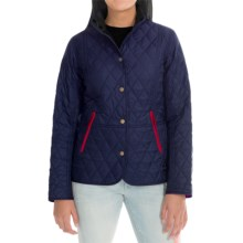 Barbour Chestnut Diamond Quilted Jacket (For Women) in Indigo/Fuchsia - Closeouts