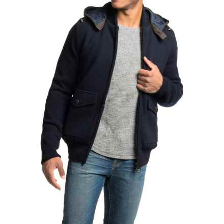 Barbour Chirdon Sweater Jacket (For Men) in Dark Navy - Closeouts