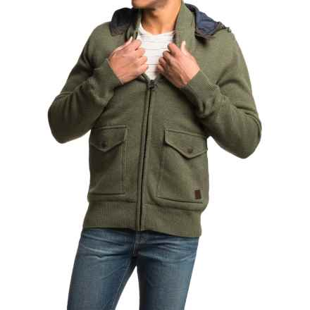 Barbour Chirdon Sweater Jacket (For Men) in Dark Olive - Closeouts