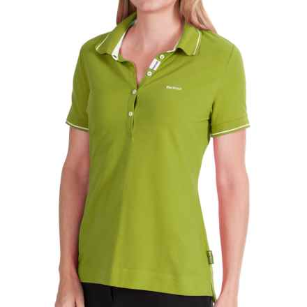 Barbour Chroma Polo Shirt - Short Sleeve (For Women) in Apple - Closeouts
