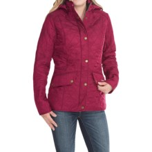 Barbour Chromatics Quilted Jacket - Fleece-Lined Hood (For Women) in Fuchsia/Black - Closeouts