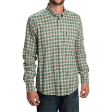 Barbour Clarence Shirt - Tailored Fit, Long Sleeve (For Men) in Green Check - Closeouts
