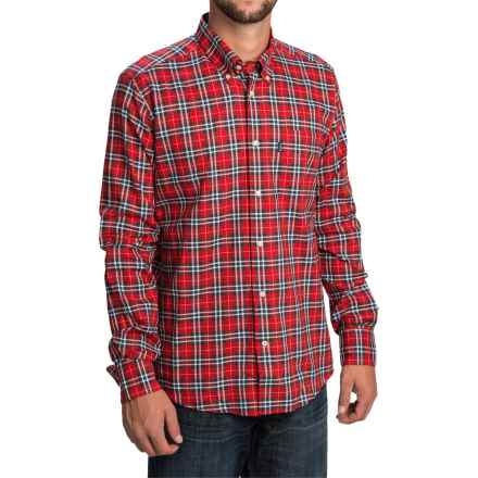 Barbour Clarence Shirt - Tailored Fit, Long Sleeve (For Men) in Red Check - Closeouts