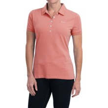 Barbour Classic Stretch Cotton Pique Polo Shirt - Short Sleeve (For Women) in Camelia - Closeouts