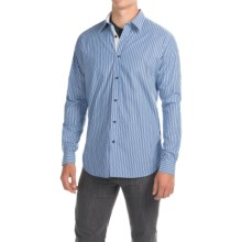 Barbour Cleaver Cotton Shirt - Button Front, Long Sleeve (For Men) in Blue Stripe - Closeouts