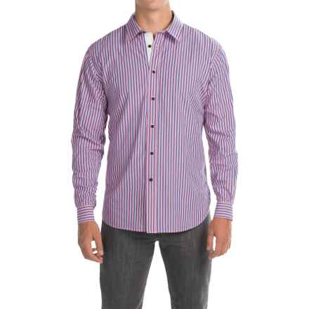 Barbour Cleaver Cotton Shirt - Button Front, Long Sleeve (For Men) in Candy Stripe - Closeouts
