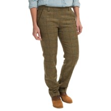 Barbour Clover British Mallalieus Wool Tweed Trousers (For Women) in Olive Plaid - Closeouts