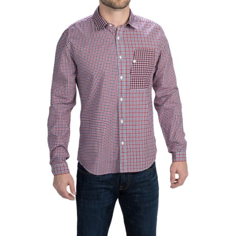 Barbour Club Patchwork Shirt Long Sleeve (For Men)