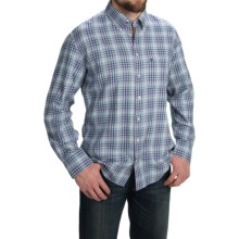 Barbour Collared Cotton Shirt with Pocket - Long Sleeve (For Men) in Purple Plaid, Conholt - Closeouts