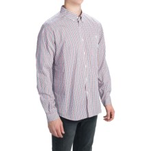 Barbour Collared Cotton Shirt with Pocket - Long Sleeve (For Men) in Rich Red Check, Barton - Closeouts