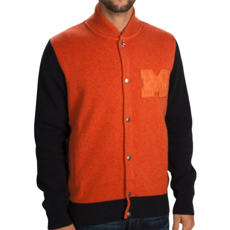 Barbour Colville Baseball Sweater Snap Front, Lambswool (For Men)