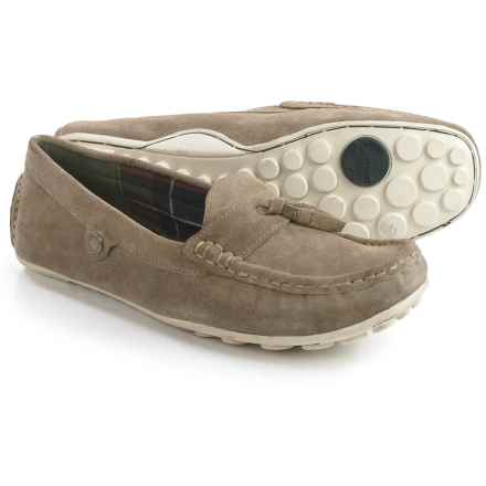 Barbour Combe Driving Shoes - Suede (For Women) in Stone - Closeouts