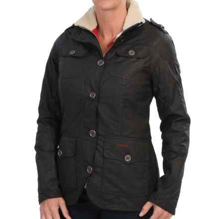 Barbour Compass Jacket - Waxed Cotton (For Women) in Black - Closeouts