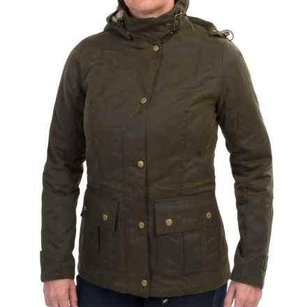 Barbour Convoy Waxed Cotton Jacket - Insulated (For Women) in Olive - Closeouts