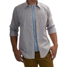 Barbour Corbridge Cotton Shirt - Button Front, Long Sleeve (For Men) in Gold Check - Closeouts
