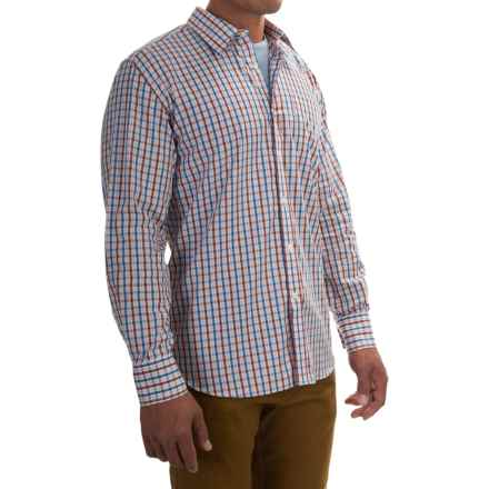 Barbour Corbridge Cotton Shirt - Button Front, Long Sleeve (For Men) in Loch Blue Check - Closeouts