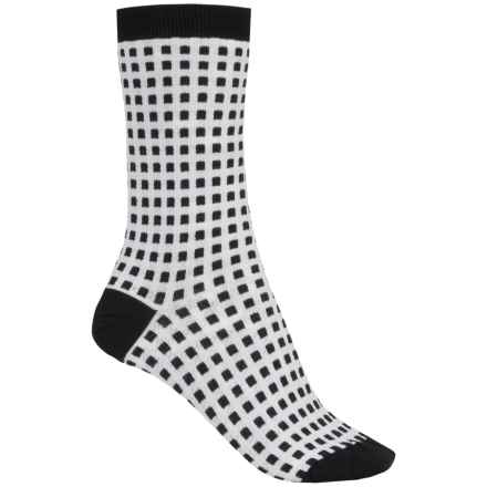Barbour Cotton-Blend Socks - Crew (For Women) in Black/White, Booker - Closeouts