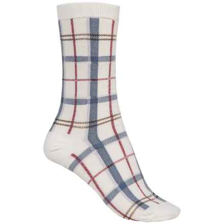 Barbour Cotton-Blend Socks - Crew (For Women) in Summer Dress, Tartan - Closeouts