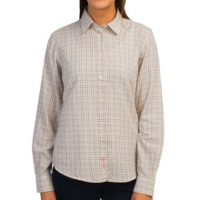 Barbour Cotton Button Front Shirt - Long Sleeve (For Women) in Cream Check, Moorland, Tailored - Closeouts