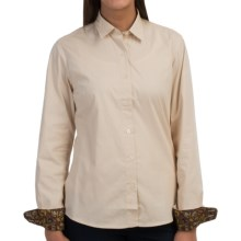 Barbour Cotton Button Front Shirt - Long Sleeve (For Women) in Pearl/Liberty, Caradon, Tailored - Closeouts