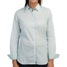 Barbour Cotton Button Front Shirt - Long Sleeve (For Women) in Summer Sky, Emma - Closeouts