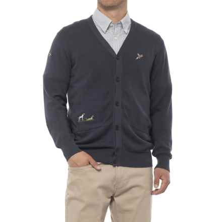 Barbour Cotton Cardigan Sweater (For Men) in Navy - Closeouts