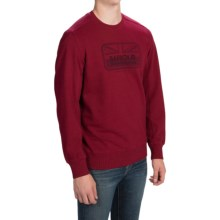 Barbour Cotton Crew Neck Sweater (For Men) in Crimson, Tourer - Closeouts