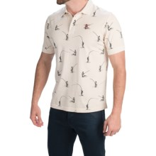 Barbour Cotton Knit Polo Shirt - Short Sleeve (For Men) in Pearl, Thornback - Closeouts