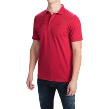 Barbour Cotton Knit Polo Shirt - Short Sleeve (For Men) in Rich Red, Tench - Closeouts