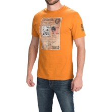 Barbour Cotton Knit T-Shirt - Short Sleeve (For Men) in Amber, License - Closeouts