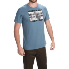 Barbour Cotton Knit T-Shirt - Short Sleeve (For Men) in Dark Chambray, Pursuit - Closeouts