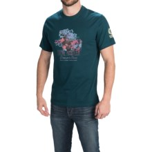 Barbour Cotton Knit T-Shirt - Short Sleeve (For Men) in Deep Teal, Finish Line - Closeouts