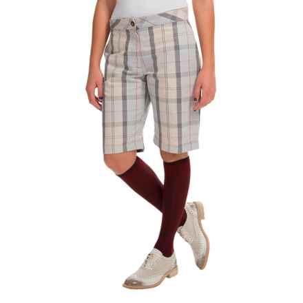 Barbour Cotton-Linen Blend Shorts (For Women) in Summer Dress Tartan - Closeouts