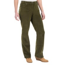 Barbour Cotton Pants - Flat Front (For Women) in Olive, Arundale, Corduroy - Closeouts