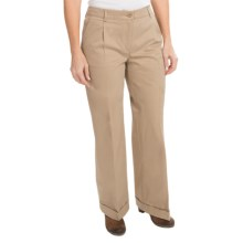 Barbour Cotton Pants - Flat Front (For Women) in Sand,Twill - Closeouts