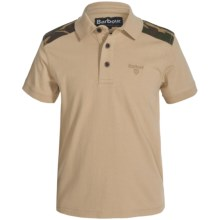 Barbour Cotton Polo Shirt - Short Sleeve (For Boys) in Dark Stone, Cromwell - Closeouts