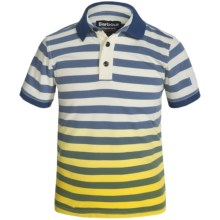 Barbour Cotton Polo Shirt - Short Sleeve (For Boys) in Yellow Striped, Ace - Closeouts
