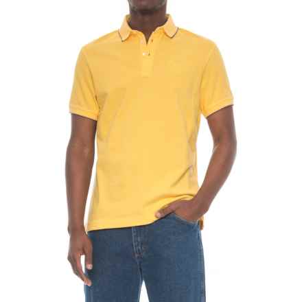 Barbour Cotton Polo Shirt - Short Sleeve (For Men) in Sun Bleach - Closeouts