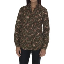 Barbour Cotton Shirt - Long Sleeve (For Women) in Bird Print, Bantam, Slim Fit - Closeouts