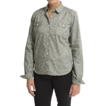 Barbour Cotton Shirt - Long Sleeve (For Women) in Light Olive, Meadow, Poplin - Closeouts