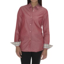 Barbour Cotton Shirt - Long Sleeve (For Women) in Mineral Red, Langley - Closeouts